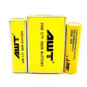 AWT-18650-35A Battery 2pk-2500mah-Yellow