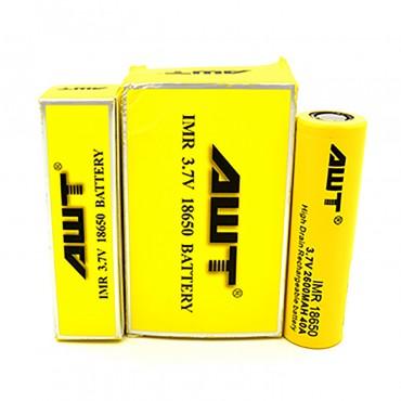 AWT-18650-40A Battery 2pk-2600mah-Yellow