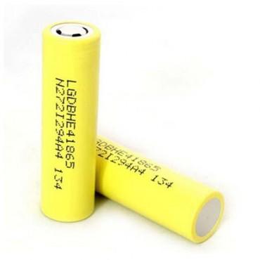 LG HE4 18650 2500mAh (2 Pack - Yellow)