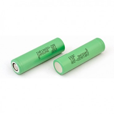 Samsung 25R INR 18650 2500mah (2 Pack - Green)