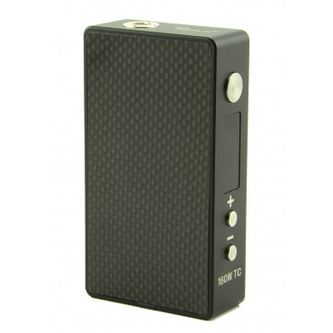 Tesla 160W TC Box Mod - Black Carbon Fiber