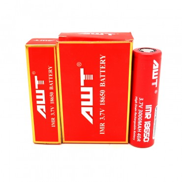 AWT-18650-40A-Battery-2PK-3000mah-Red