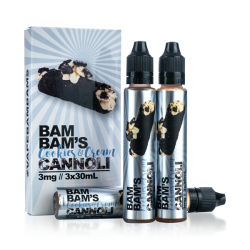 Bam Bam's Cannoli Cookies & Cream Cannoli E-liquid (90mL)