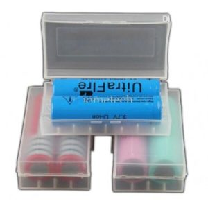 Plastic Battery Storage Box - Clear