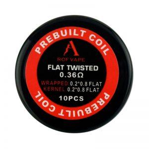 Rofvape Flat Twisted Prebuilt Coils 0.36ohm - 10pcs/pack