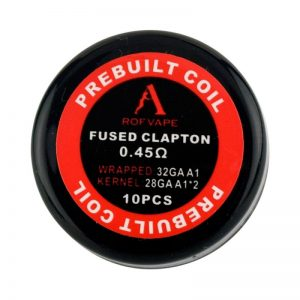 Rofvape Fused Clapton Prebuilt Coils 0.45ohm - 10pcs/pack