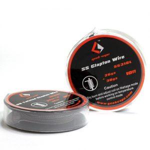 Geekvape SS Clapton Wire 26ga+30ga 10ft