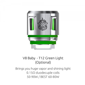 Smok V8 Baby Beast Prince T12 Light Coil - Green
