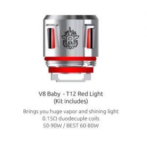 Smok V8 Baby Beast Prince T12 Light Coil - Red