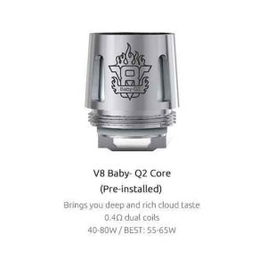 SMOK TFV8 Baby Coils 5-Pack - Q2 Kanthal 0.4 ohm