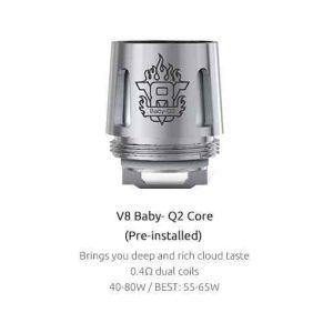 SMOK TFV8 Baby Coils 5-Pack - Q2 Kanthal 0.4 ohm