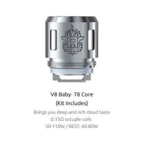 SMOK TFV8 Baby Coils 5-Pack - T8 Kanthal 0.18 ohm