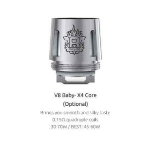SMOK TFV8 Baby Coils 5-Pack - X4 Kanthal 0.15 ohm