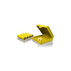 Chubby Gorilla Quad 18650 Battery Case - Yellow
