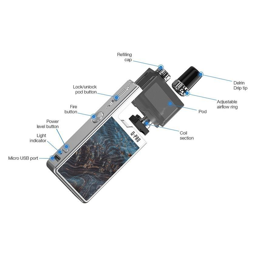 Lost Vape Orion Q Pro Kit - Silver/Fantasy