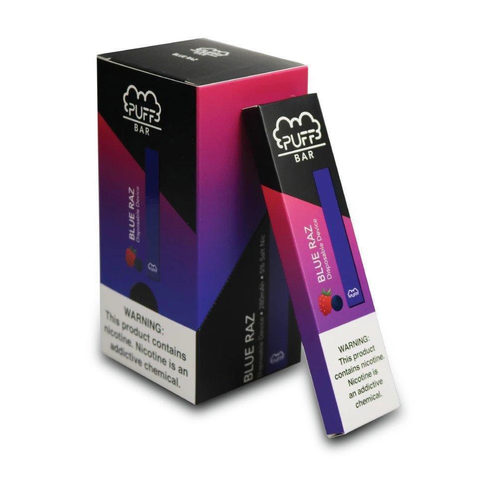 Puff Bar Disposable (5%) - Box of 10 - Blue Razz