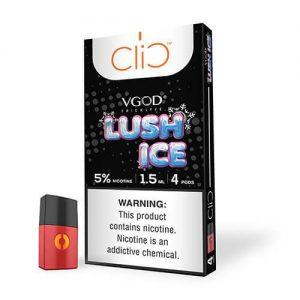 Clic Vapor - Refill Pods - Lush Ice by VGOD (4 Pack) - 1.5ml / 50mg