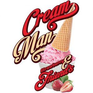 Cream Man E-Juice - Strawberry and Friends - 30ml - 30ml / 0mg