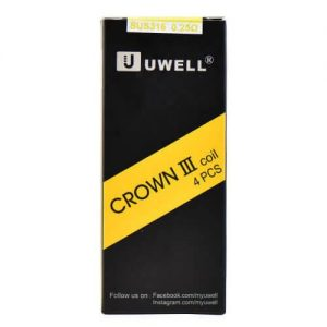 Uwell Crown 3 III Replacement Coils 0.25ohm (4-Pack) - Default Title
