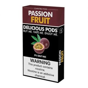 Delicious Pods - Compatible Flavor Pods - Passion Fruit (4 Pack) - 1ml / 50mg
