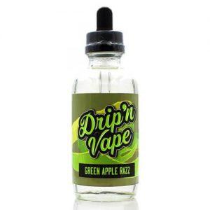 Drip N Vape - Green Apple Razz eLiquid - 120ml - 120ml / 0mg