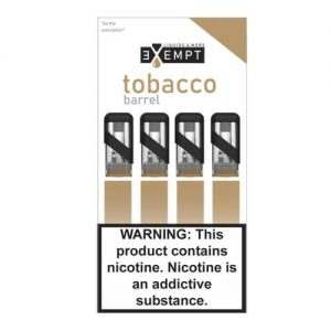 Remit by Exempt - Pre-Filled Pods - Tobacco Barrel (4 Pack) - 1.2ml / 30mg