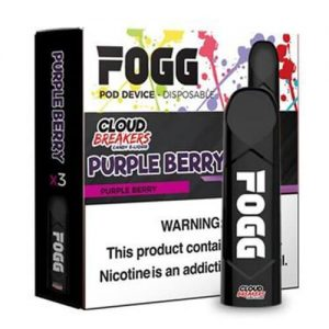 FOGG Vape - Ultra Portable and Disposable Device - Purple Berry by Cloud Breakers - 3 Pack / 50mg