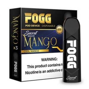 FOGG Vape - Ultra Portable and Disposable Device - Mango - 3 Pack / 50mg