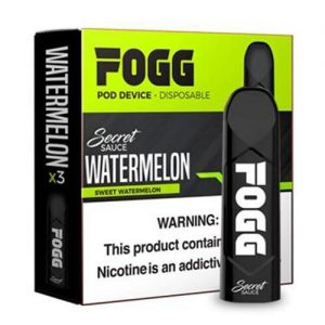 FOGG Vape - Ultra Portable and Disposable Device - Watermelon - 3 Pack / 50mg