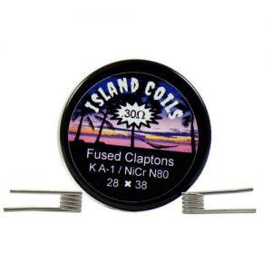 Island Coils by Island Vapezz - Fused Clapton - 0.3 ohm (2 Pack) - 0.3 ohm