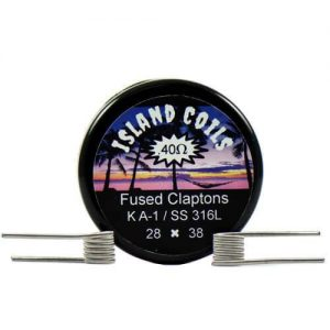 Island Coils by Island Vapezz - Fused Clapton - 0.4 ohm (2 Pack) - 0.4 ohm