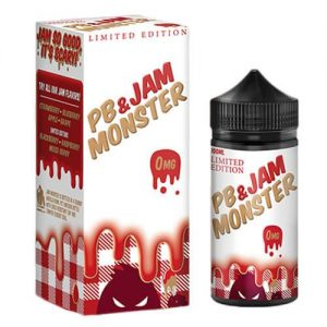 Jam Monster eJuice - PB & Strawberry Jam - 100ml / 0mg