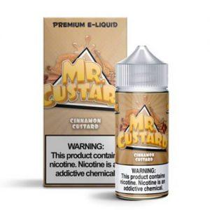 Mr. Custard Premium E-Liquid - Cinnamon Custard - 100ml / 0mg