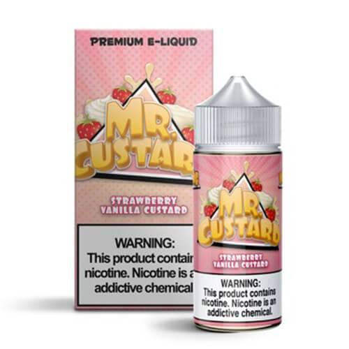 Mr. Custard Premium E-Liquid - Strawberry Vanilla Custard - 100ml / 6mg
