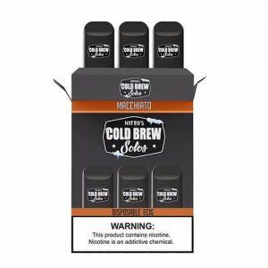Nitro?ÇÖs Cold Brew Solos - Disposable Device - Macchiato - 3 Pack / 50mg