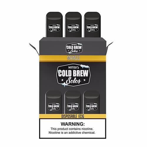 Nitro?ÇÖs Cold Brew Solos - Disposable Device - Mango - 3 Pack / 50mg