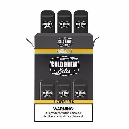 Nitro???s Cold Brew Solos - Disposable Device - Mango Ice - 3 Pack / 50mg