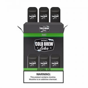 Nitro?ÇÖs Cold Brew Solos - Disposable Device - Mint - 3 Pack / 50mg