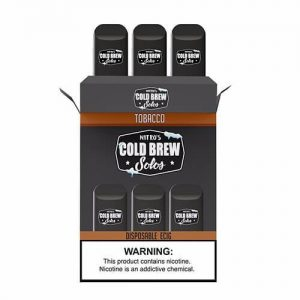 Nitro?ÇÖs Cold Brew Solos - Disposable Device - Tobacco - 3 Pack / 50mg