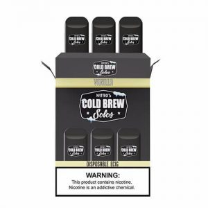 Nitro?ÇÖs Cold Brew Solos - Disposable Device - Vanilla - 3 Pack / 50mg