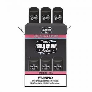 Nitro?ÇÖs Cold Brew Solos - Disposable Device - Watermelon Strawberry Ice - 3 Pack / 50mg