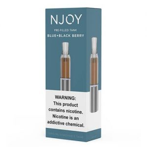 Njoy Pre-Filled Tank - Blue and Blackberry - 3ml / 15mg (Smooth Blend)