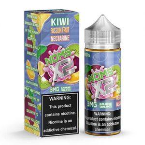 Noms eJuice - Noms X2 Kiwi Passionfruit Nectarine - 120ml / 0mg