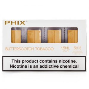 PHIX by MLV - Butterscotch Tobacco (4 Pack) - 1.5ml / 50mg