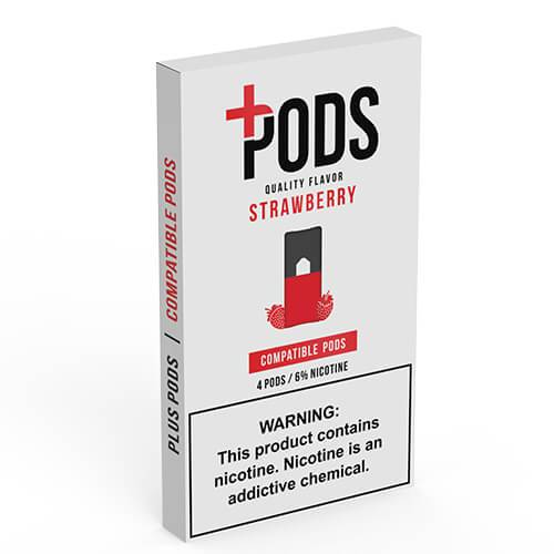 Plus Pods - Compatible Flavor Pods - Strawberry - 1ml / 60mg