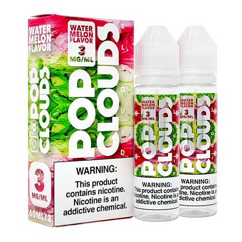 Pop Clouds E-Liquid - Watermelon - 2x60ml / 3mg
