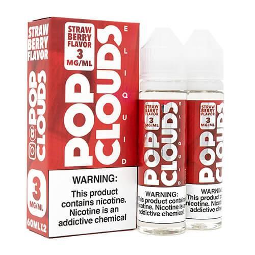 Pop Clouds E-Liquid - Strawberry - 2x60ml / 6mg