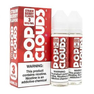 Pop Clouds E-Liquid - Strawberry - 2x60ml / 0mg