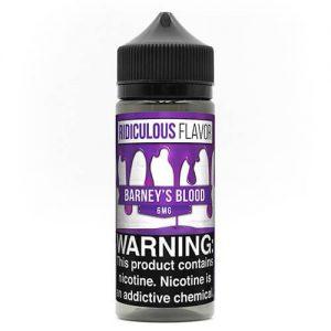 Ridiculous Flavor Vape Juice - Barney's Blood - 120ml / 0mg