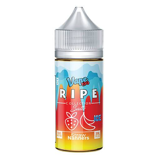 Ripe Collection on Ice by Vape 100 Nic Salts - Straw Nanners on Ice - 30ml / 50mg